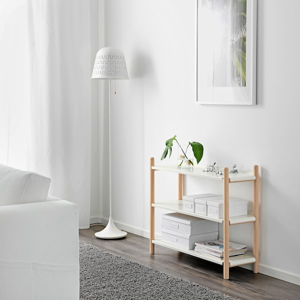 IKEA PS 2017 Shelving unit, beech/white, 90x74 cm