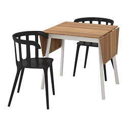 IKEA PS 2012 /  IKEA PS 2012 table and 2 chairs, bamboo, black