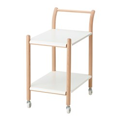 IKEA PS 2017 side table on castors, beech, white