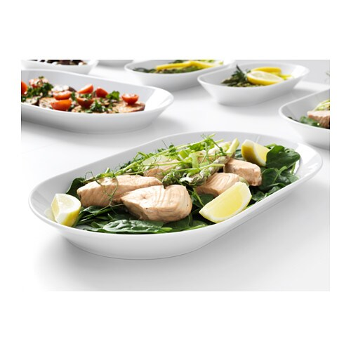 IKEA 365+ Serving plate IKEA Made of feldspar porcelain, which makes the plate impact resistant and durable.