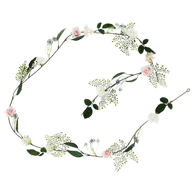 INBJUDEN Artificial garland, Rose pink, 2.5 m
