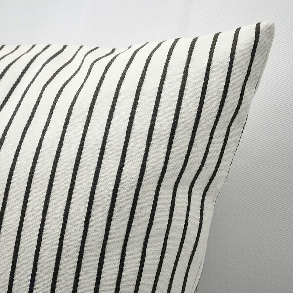 INGALILL cushion cover white/dark grey striped 50 cm 50 cm