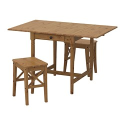 INGATORP /  INGOLF table and 2 chairs, antique stain antique stain