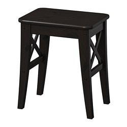 INGOLF stool, brown-black
