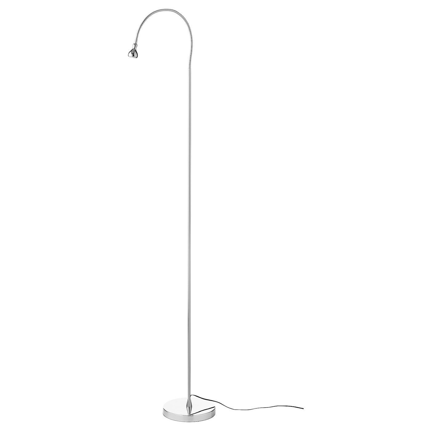 Jansjo Led Floor Read Lamp Silver Colour Ikea