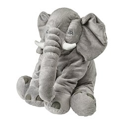 JÄTTESTOR soft toy, elephant, grey