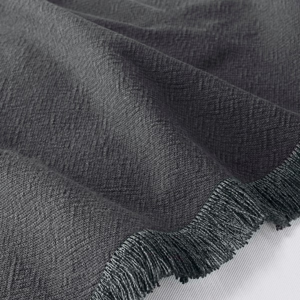 JOFRID Throw, dark blue-grey, 150x200 cm