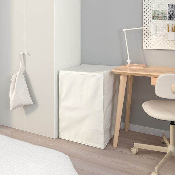 JONAXEL Frame with wire baskets/cover, white, 50x51x70 cm