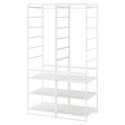 JONAXEL shelving unit with clothes rail 99 cm 51 cm 173 cm