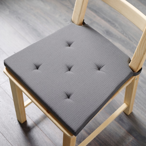 JUSTINA chair pad grey 35 cm 42 cm 40 cm 4.0 cm