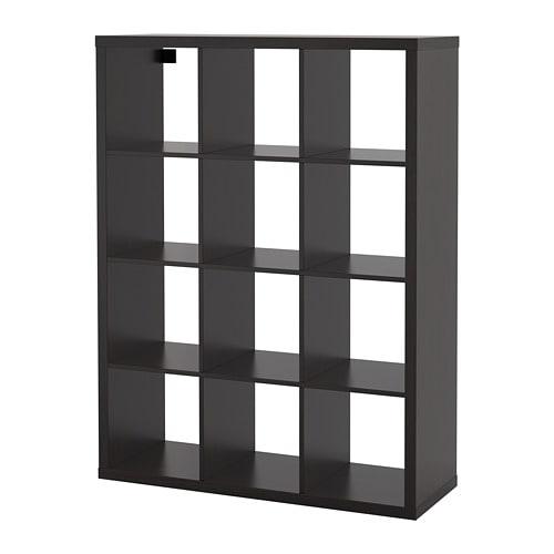 KALLAX - Shelving unit, black-brown