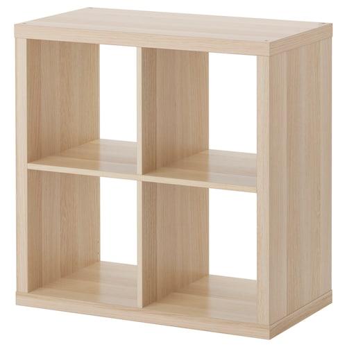 KALLAX shelving unit white stained oak effect 77 cm 39 cm 77 cm 13 kg 20 kg