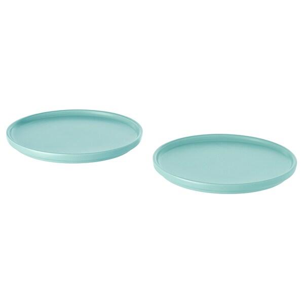 KEJSERLIG Side plate, turquoise, 18 cm