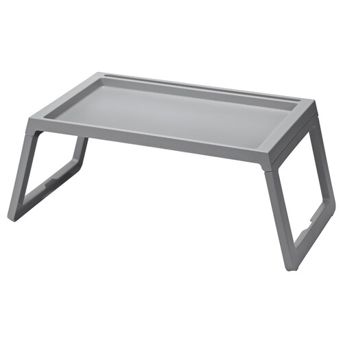 KLIPSK bed tray grey 56 cm 36 cm 26 cm
