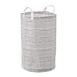 KLUNKA laundry bag, white, black