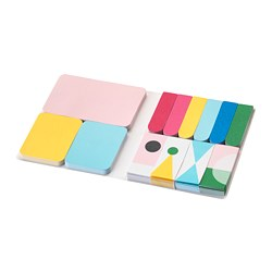 KNALLGUL folder with sticky notes