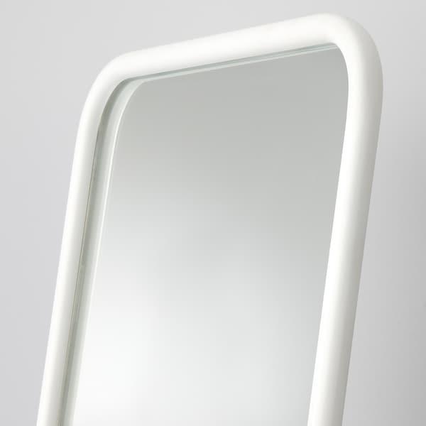 KNAPPER Standing mirror, white, 48x160 cm