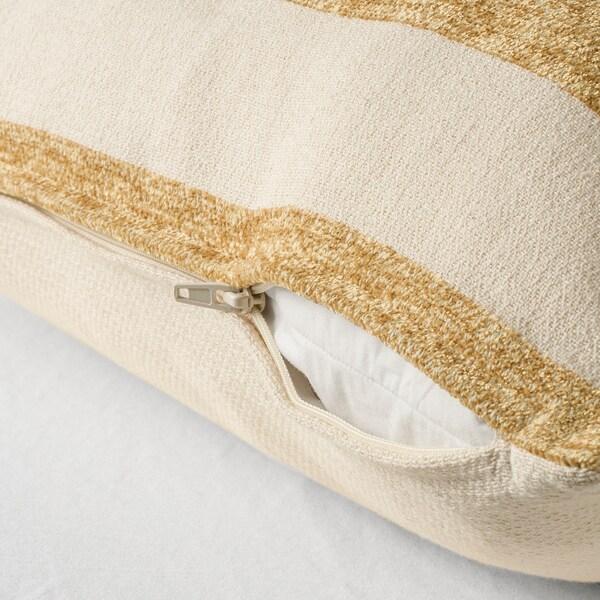 KNIPPARV cushion natural golden-yellow/striped 50 cm 50 cm 750 g 1010 g