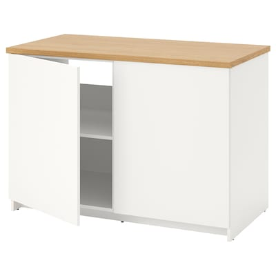 KNOXHULT Base cabinet with doors, white, 120x85 cm