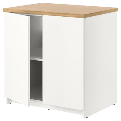 KNOXHULT Base cabinet with doors, white, 80x85 cm
