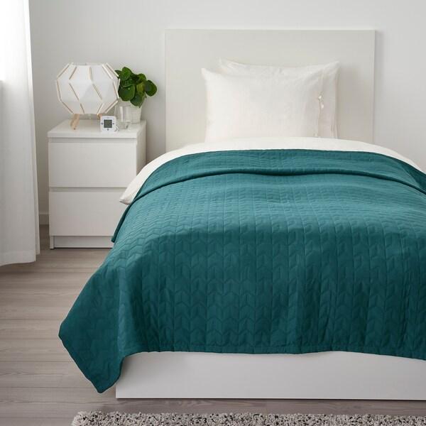 KÖLAX Bedspread, dark green, 150x250 cm