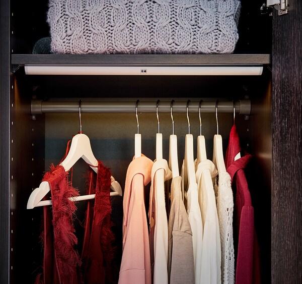 KOMPLEMENT Clothes rail, dark grey, 75 cm