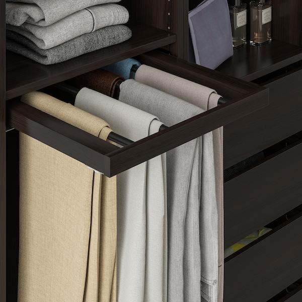 KOMPLEMENT Pull-out trouser hanger, black-brown, 50x58 cm