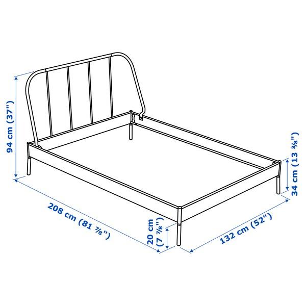 KOPARDAL Bed frame, grey/Luröy, 120x200 cm