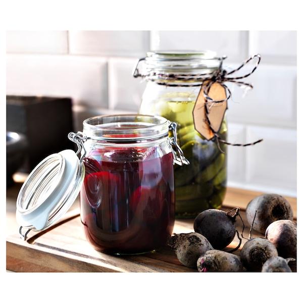 KORKEN Jar with lid, clear glass, 1.8 l