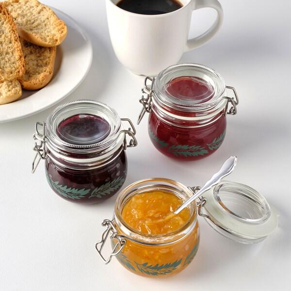 KORKEN jar with lid 7 cm 7 cm 13 cl 3 pieces