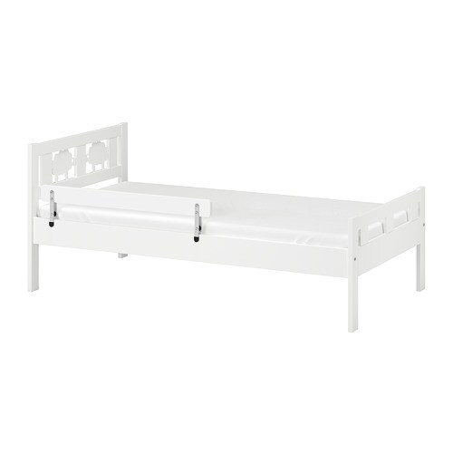 KRITTER Bed frame with slatted bed base