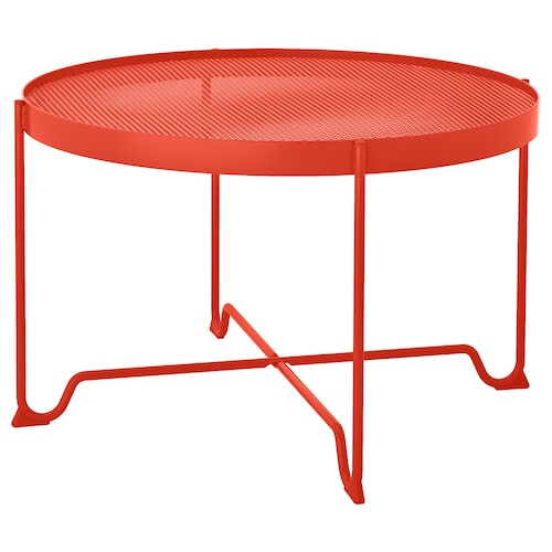 KROKHOLMEN coffee table, outdoor orange 44 cm 73 cm