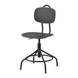 KULLABERG swivel chair, black