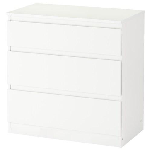 KULLEN chest of 3 drawers white 70 cm 40 cm 72 cm 34 cm