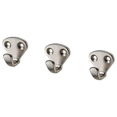 KVASP hook silver-colour 3 cm 2 cm 3 cm 3 pieces