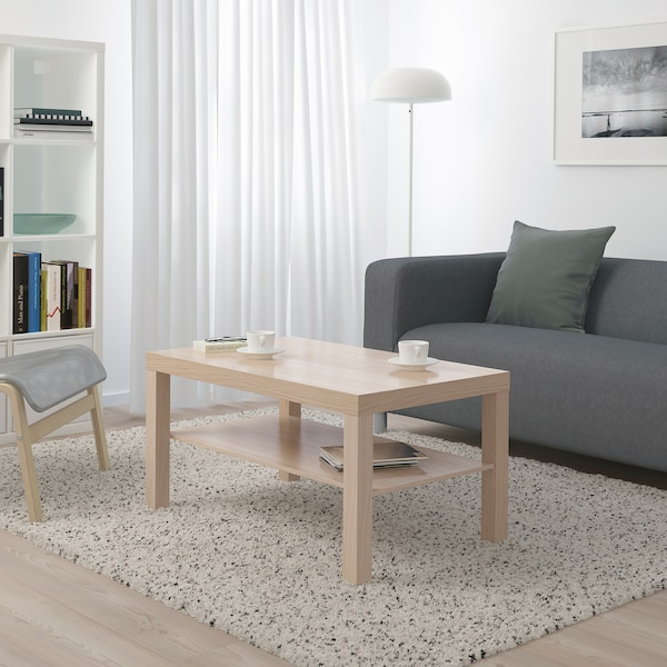 LACK coffee table white stained oak effect 90 cm 55 cm 45 cm