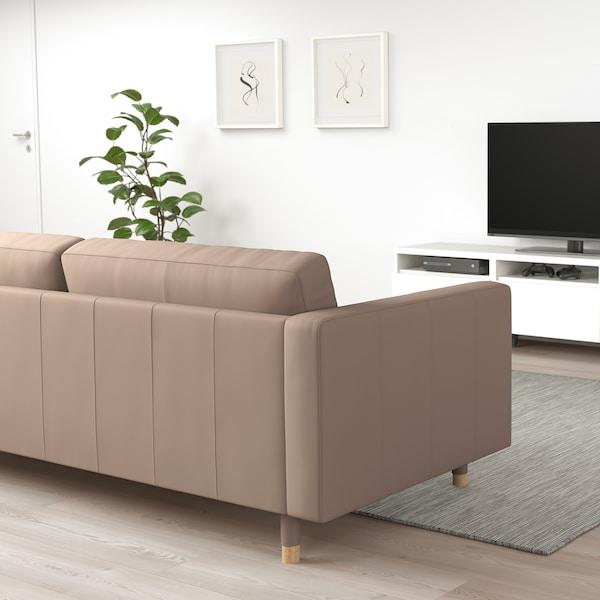 LANDSKRONA 2-seat sofa, Grann/Bomstad dark beige/wood