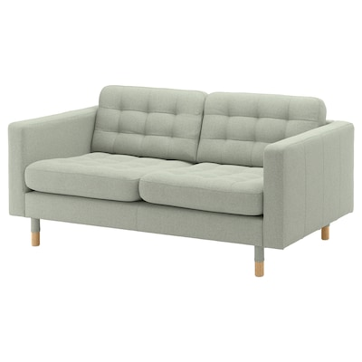LANDSKRONA 2-seat sofa, Gunnared light green/wood