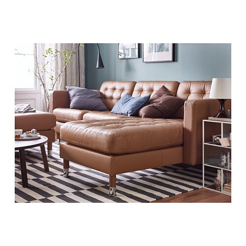 Prime Landskrona 3 Seat Sofa With Chaise Longue Grann Bomstad Golden Brown Metal Andrewgaddart Wooden Chair Designs For Living Room Andrewgaddartcom