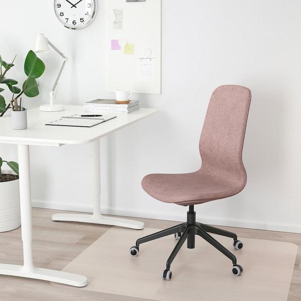 LÅNGFJÄLL office chair Gunnared light brown-pink/black 110 kg 68 cm 68 cm 104 cm 53 cm 41 cm 43 cm 53 cm