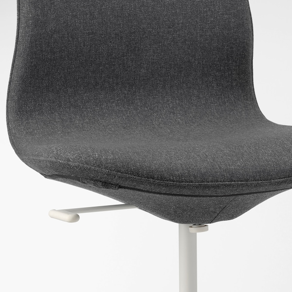 LÅNGFJÄLL office chair Gunnared dark grey/white 110 kg 68 cm 68 cm 104 cm 53 cm 41 cm 43 cm 53 cm