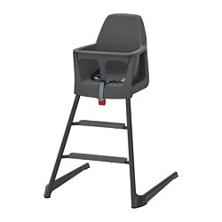 LANGUR junior/highchair with tray, grey