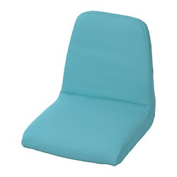LANGUR padded seat cover for junior chair, blue