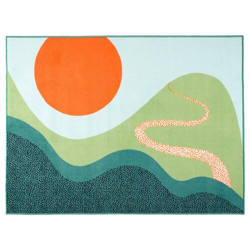 LATTJO rug, low pile multicolour 160 cm 120 cm 1.92 m²