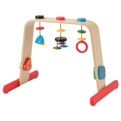 LEKA baby gym birch/multicolour 55 cm 43 cm