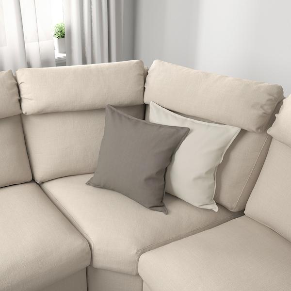 LIDHULT Corner sofa, 5-seat, with open end/Gassebol light beige