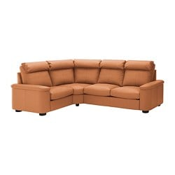 LIDHULT corner sofa, 4-seat, Grann/Bomstad golden-brown