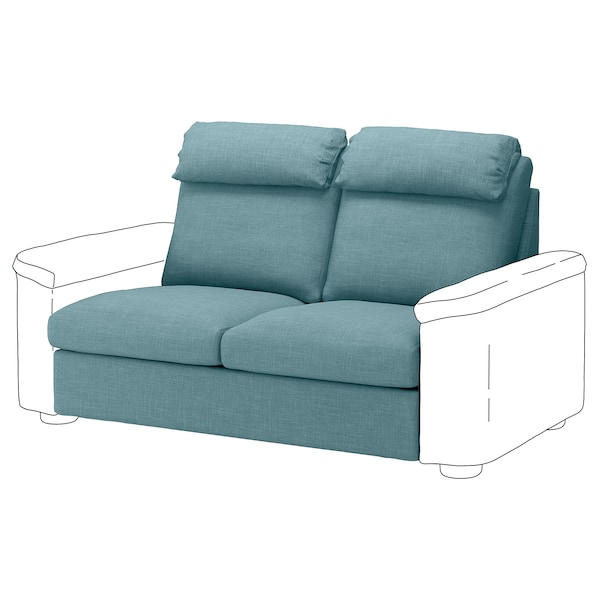 LIDHULT Cover for 2-seat sofa-bed section, Gassebol blue-grey