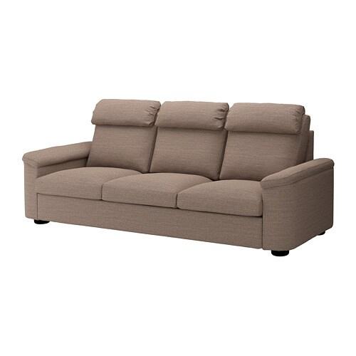 Lidhult 3 Seat Sofa Lejde Beige Brown