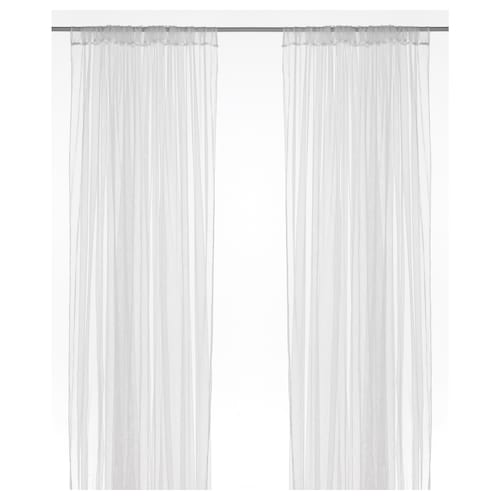 LILL net curtains, 1 pair white 250 cm 280 cm 0.40 kg 7.00 m² 2 pieces